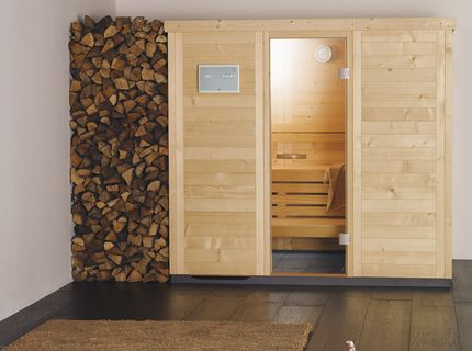 Sauna in Massivholz