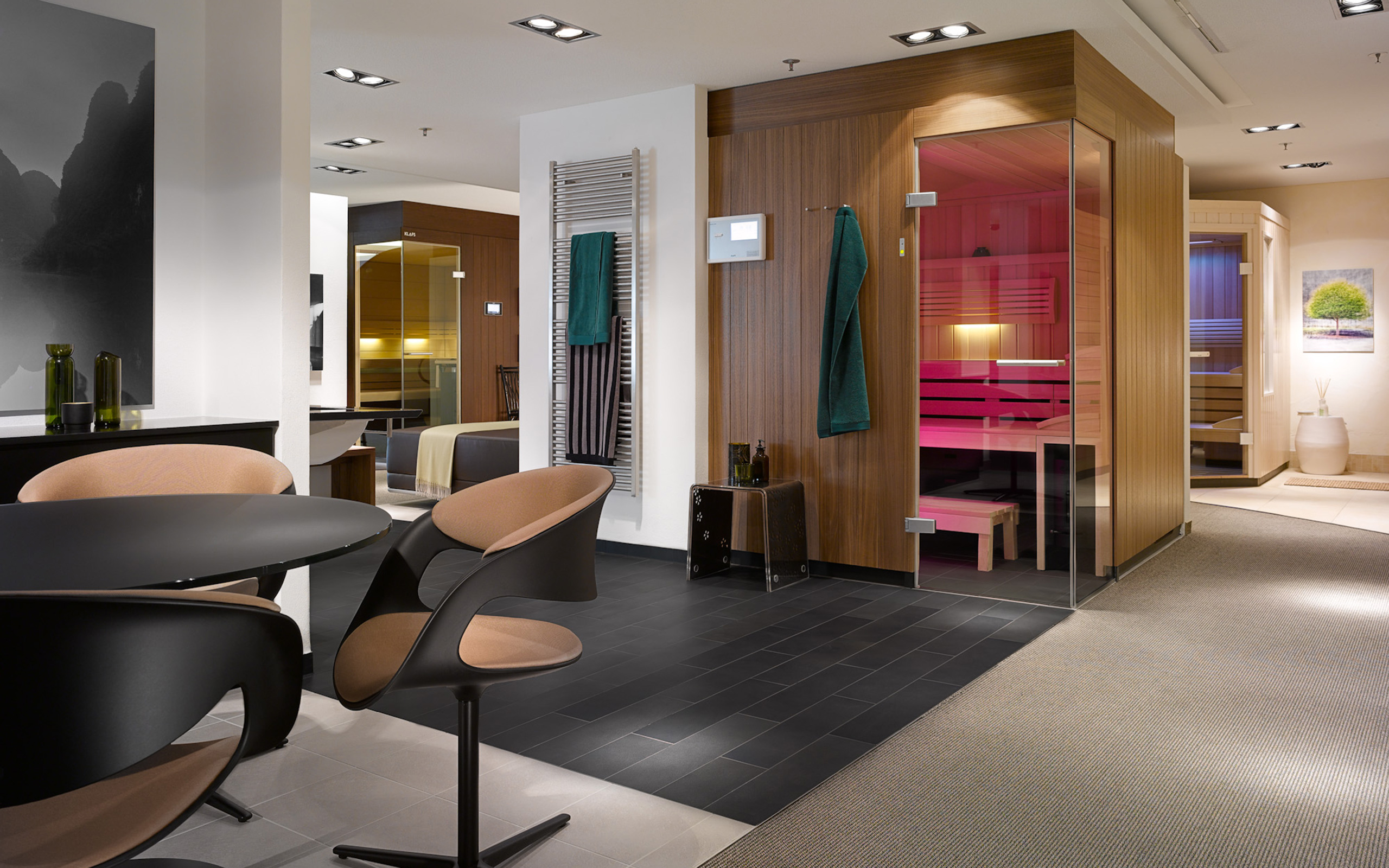 sauna ausstellung schw bisch hall in house of sauna spa. Black Bedroom Furniture Sets. Home Design Ideas